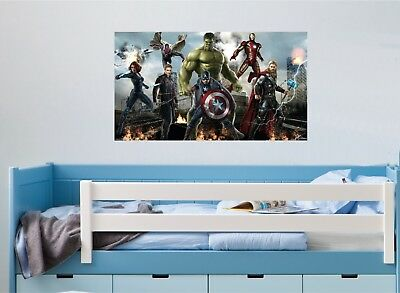 AVENGERS WALL ART STICKER - 7 x great sizes - Great decal for any room