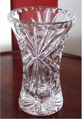 HEAVY SUPERB QUALITY CUT CRYSTAL VASE - 4½inch    *