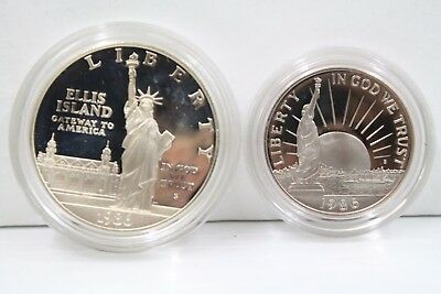 United States Liberty Coins 1886-1986 S Proof Set Silver w/ COA Commemorative