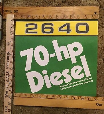 John Deere 2640 Dealership Poster 1980's