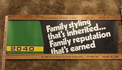 John Deere 2040 Dealership Poster 1980's