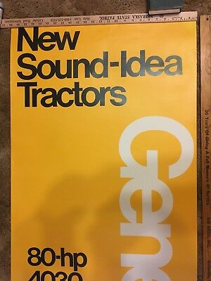 John Deere New Sound Idea Generation 2 Dealership Poster 1970's