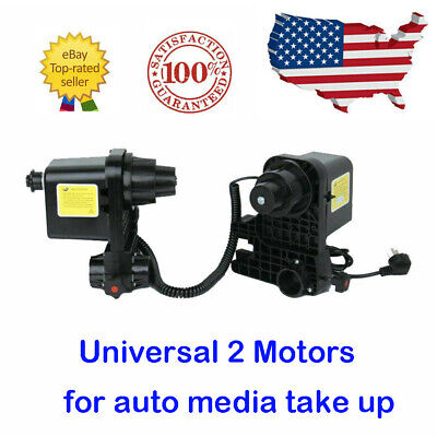 Auto Media Take up Reel Paper Roller Two Motors For Roland Epson Mutoh Mimaki US
