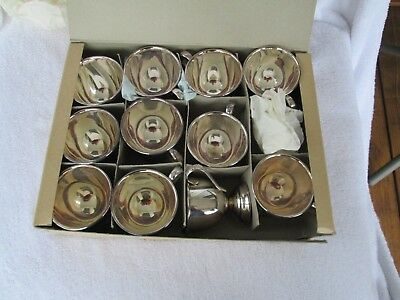 11X= ELEGANT+[ Vintage Japan] Silverplate+ Rose Handle CUPS>GORGEOUS CONDITION