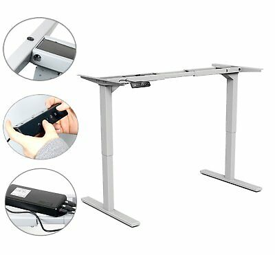 "YaeKoo Electric Height Adjustable Sit-Stand Desk Dual Motor, H 27.95"" - 46.85"""