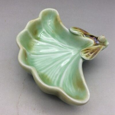 Old leaves shape handmade ceramic writing brush washer