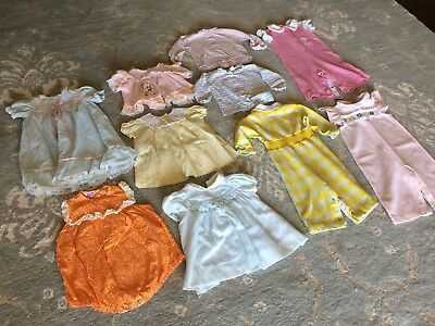 Vintage Baby Girl Clothes Lot of 10 Assorted Pieces