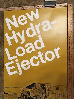 John Deere New Hydra Load Ejector Dealership Poster 1980's