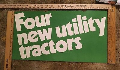 John Deere Dealership Poster 1980's