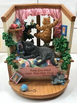San Francisco Music Box Company Angus & Friends Cats Need Nine Lives 1 of 1000