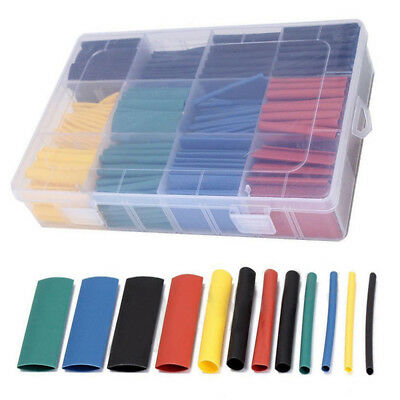 8 Size Case 530Pcs 2:1 Heat Shrink Tubing Tube Sleeving Wrap Cable Wire