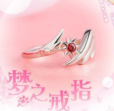 Card Captor Sakura Ring Wing Magic Circle Cosplay Christmas Gift USA size 8
