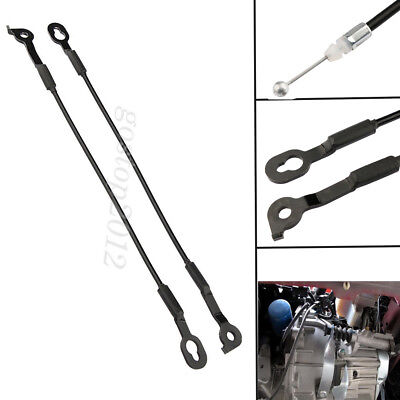 2x Tail Gate Car Tailgate Latch Cable Black For Chevrolet S-10 GMC Sonoma 94-03