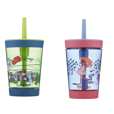 Contigo Spill Proof Kids Tumbler 414ml Superhero & Pink Wink