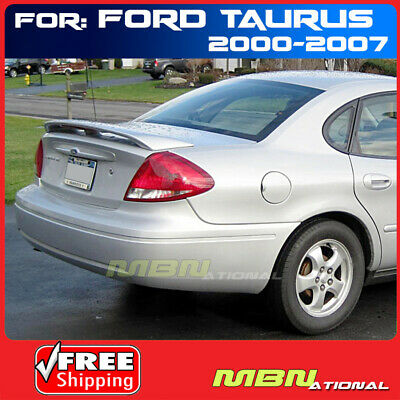 For 00-07 Taurus Rear Tail Trunk Wing Spoiler Primer LED Brake Unpainted ABS
