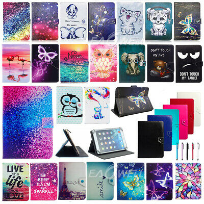 """For Kobo ARC / Aura 7"""" 10.1"""" Tablet Cute Universal Leather Case Cover Xmas Gift"""