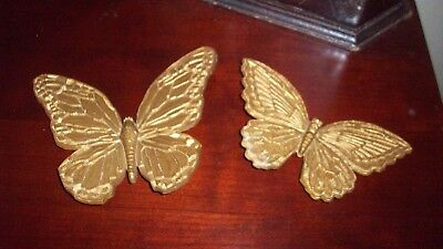 Homco Home Interior Set 2 Gold Butterflies T7041 T7040 7 00