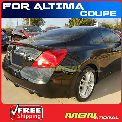 For 13-15 Nissan Altima Sedan Rear Spoiler Lip Painted KH3 SUPER BLACK