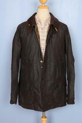 Mens BARBOUR Bedale WAXED Jacket Brown Size 48