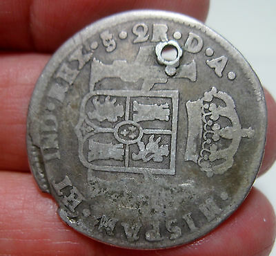 1786 Da (Santiago-Chile) 2 Reales (Silver) ----Very Scarce----- Rare Type----