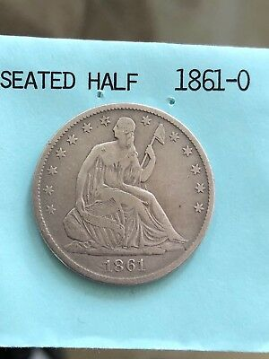 1861-O 50C Liberty Seated Half Dollar Great Condition!