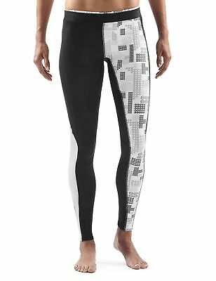 Skins A200 Women's Compression Long Tights Black/Logo X-Large New