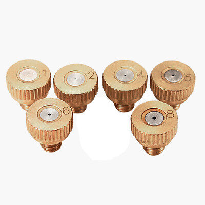 5x Brass Misting Nozzles Stainless Steel Orifice 0.1/0.2/0.3/0.4/0.5/0.6/0.8mmAT
