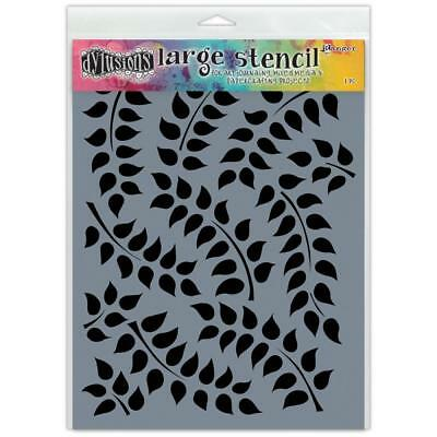 Dylusions Stencil - Large 9x12 - Fronds Of Foliage