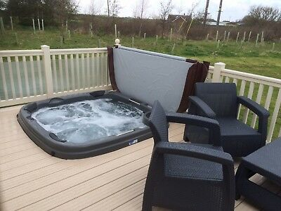 Static Caravan For Hire with private 'hot tub' at Sand Le Mere holiday village.