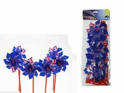 12 x Australia Day Windmill Packs Party Decorate 6 per pack  Wholesale lot