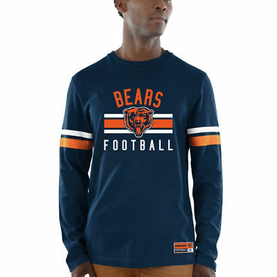 1d6feedf Majestic Chicago Bears Navy Power Hit Wordmark Long Sleeve T-Shirt - NFL