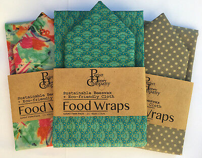 Beeswax Food Wraps | GIANT TWIN PACK