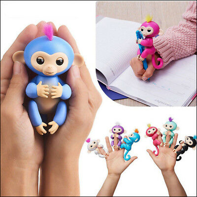 ACALI Finger Monkey Interactive Baby Monkey Toy Sound Motion Hanger Toy Kid Gift