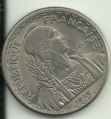 French Indochina 10 Cents 1940 KM21.1
