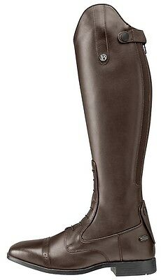 Brogini Capitoli Lace Leather Long Riding Boots-Brown Free P&P*