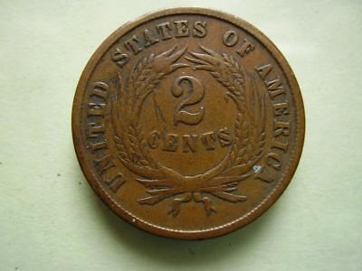 1864 USA  Two Cents 6.1 grams GoodFine