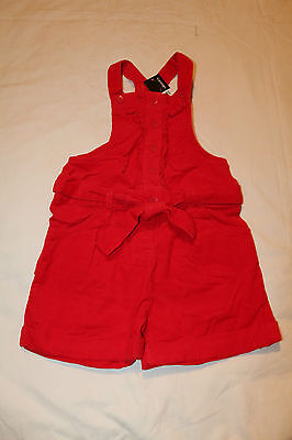Girls Red Corduroy Playsuit George Size 5-6 years BRAND NEW WITH TAG