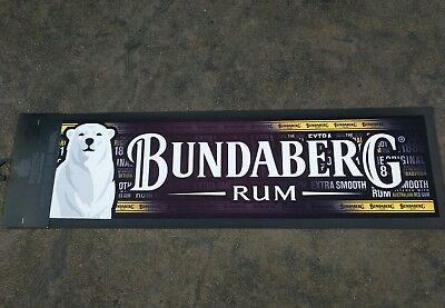 Brand New BDC Bundaberg Rum Rubber Backed Bar Runner Mat Home Bar 89 x 25 cm