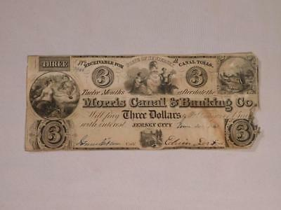 Morris Canal & Banking Co. Three Dollar Bill Lot 6