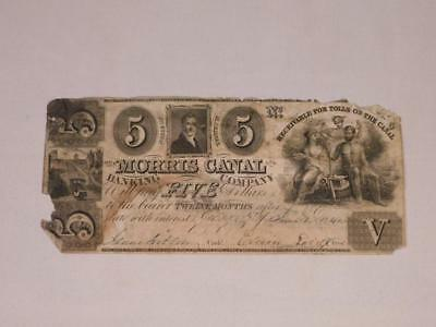 Morris Canal & Banking Co. Five Dollar Bill Lot 7