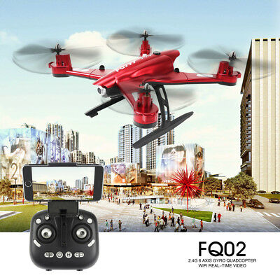 FQ777 FQ02W WiFi Foldable Drone 0.5MP 2MP Camera With RC Quadcopter Helicopter