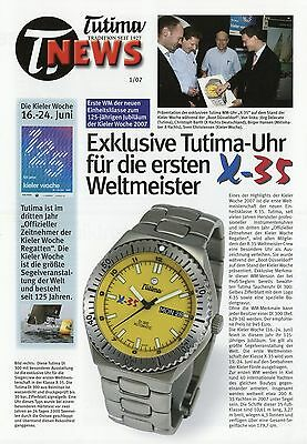 Tutima News 1 2007 Uhrenprospekt Prospekt Uhren brochure watches X-35 FX UTC