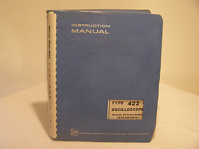 Tektronix Oscilloscope Type 422 Instruction Manual With AC-DC Power Supply