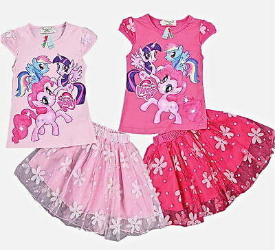 Kids Girls Disney Character MY LITTLE PONY Top & Tutu Skirt Sets,4,5,6,8,Years