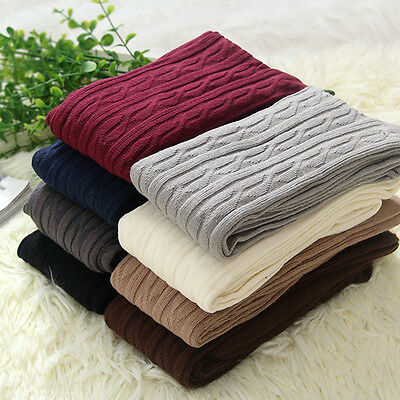 Women's Over Knee Wool Knit Long Socks Winter Thigh-Highs Warm Socks Stocking