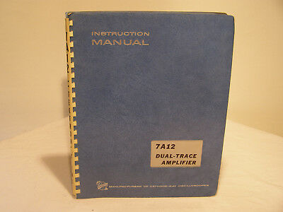 Tektronix Dual-Trace Amplifier 7A12  Instruction Manual