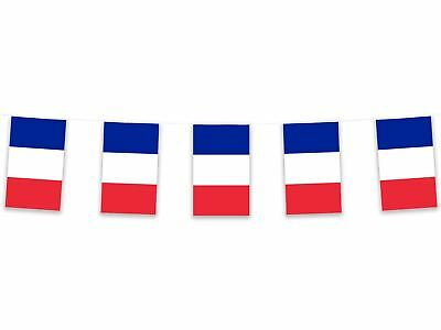 5m France French Tricolore Fabric Polyester Bunting Flag Pennant World Cup Rugby