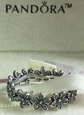 Pandora Dazzling Daisy Band Ring 190934Cz,s925 Ale,size 58 Sterling Silver+Pouch