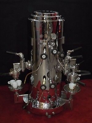 Vintage Victoria Arduino 3-Group Chrome Vertical Espresso Machine Italy coffee