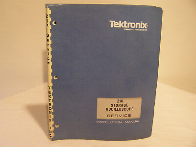 Tektronix Storage Oscilloscope Type 214 Service Instruction Manual